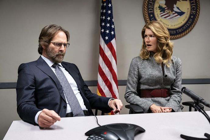 Renata Klein (Laura Dern) and Gordon Klein (Jeffrey Nordling) in *Big Little Lies* season two.
