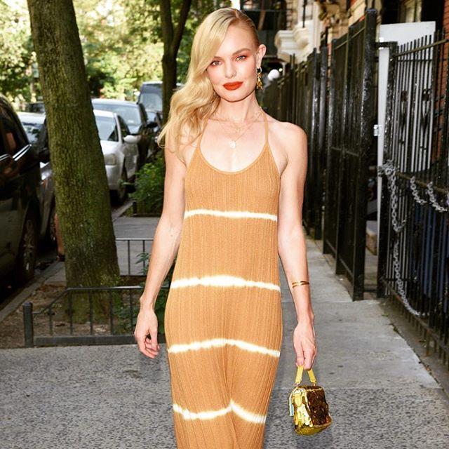 "Kate Bosworth in a $116 AUD tie-dye dress by Mango in September 2019. <br><br> *Image: Instagram [@wishfulthinking207](https://www.instagram.com/p/B2R-P3lhN6l/|target=""_blank""|rel=""nofollow"")*"