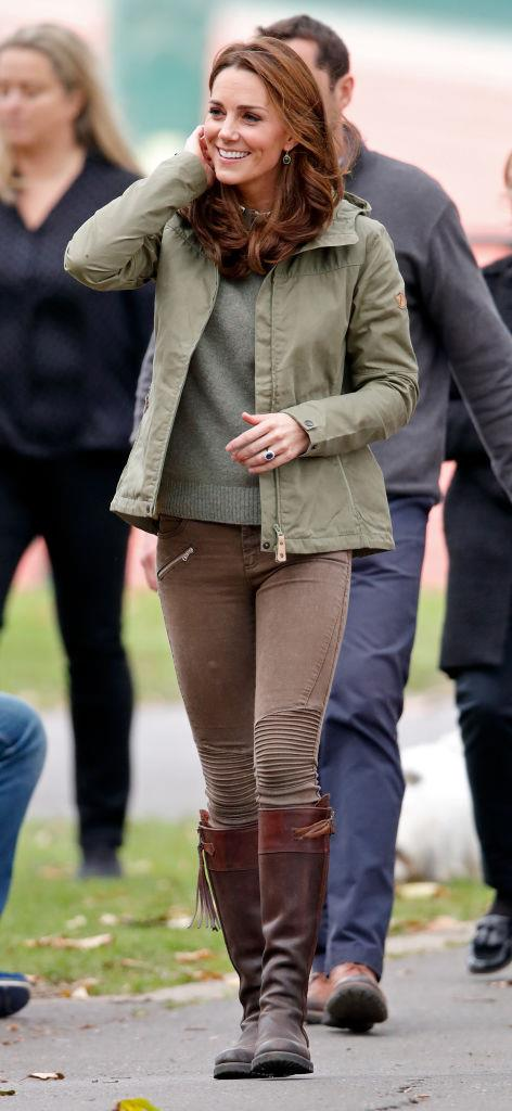 Kate Middleton, the Duchess of Cambridge in $50 AUD biker pants by ZARA in October 2018. <br><br> *Image: Getty*