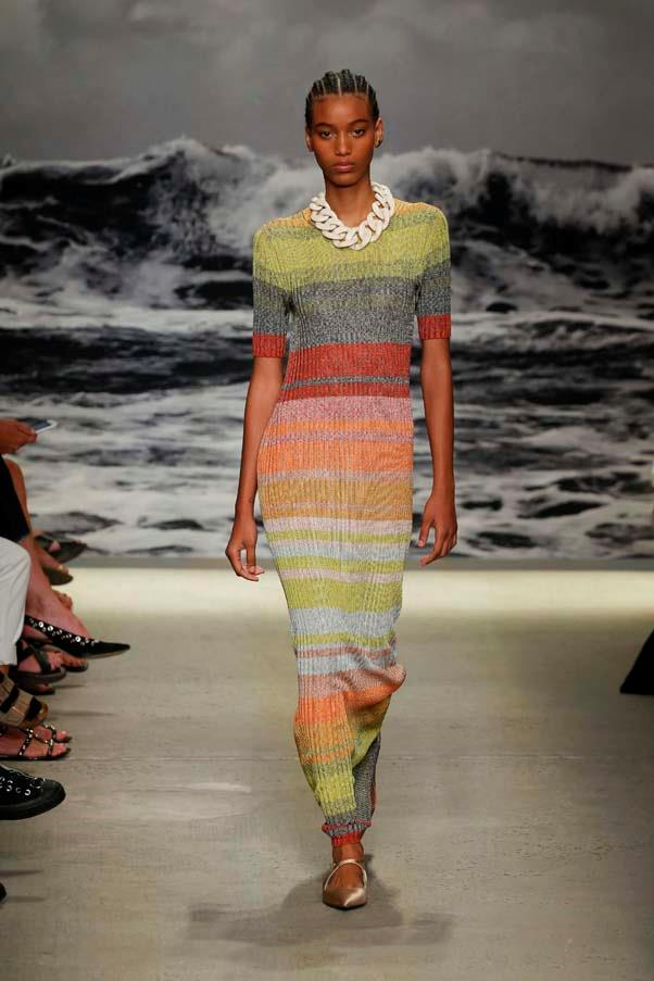 **Zimmermann** continued to do what they do best this season—aspirational summer dressing in hyper-feminine silhouettes. We have a soft spot for the multi-coloured ribbed dresses.
