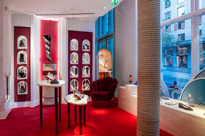 Christian Louboutin's new store on Collins Street in Melbourne's CBD.