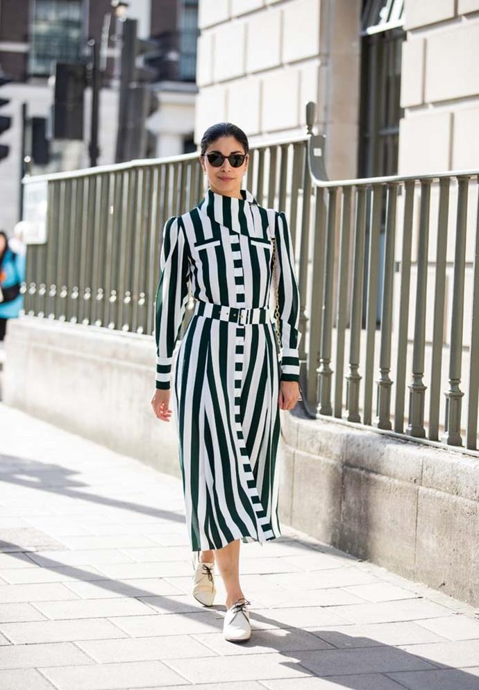 **Trend: Holding Pattern**<br><br> From stripes to check, tie-dye to patchwork, patterns have been emerging as a... well, a pattern, at London Fashion Week.