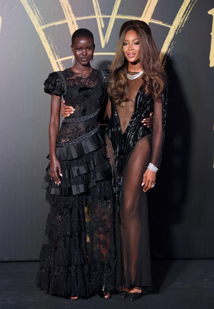 Adut Akech and Naomi Campbell