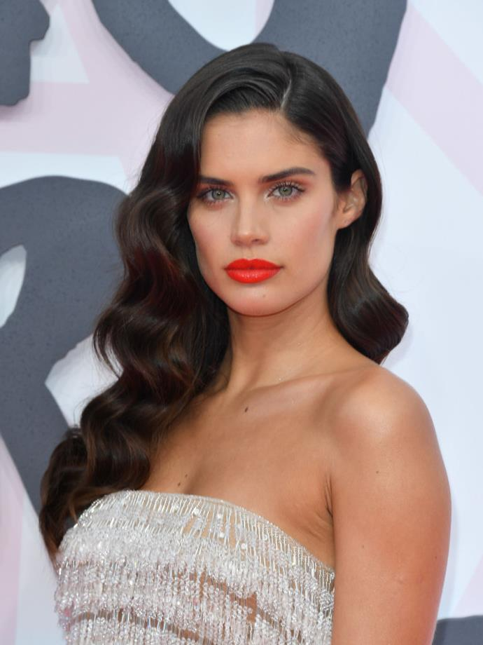 **Sara Sampaio** <br><br> While she'll happily trial a pixie cut on the runway, Brazilian-born Sampaio prefers to keep her hair long and lush. And looking at those glossy waves, we don't blame her.