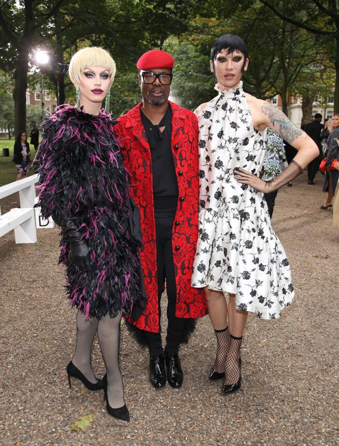 Aquaria, Billy Porter and Miss Fame at Erdem.