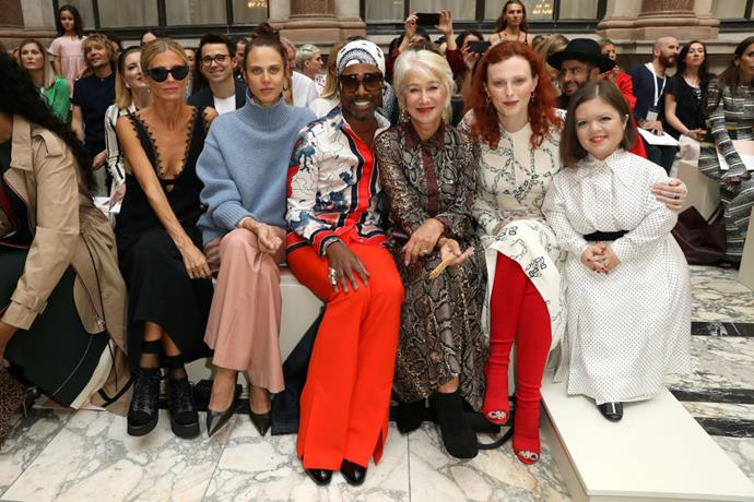 Laura Bailey, Aymeline Valade, Billy Porter, Dame Helen Mirren, Karen Elson and Sinéad Burke at Victoria Beckham.