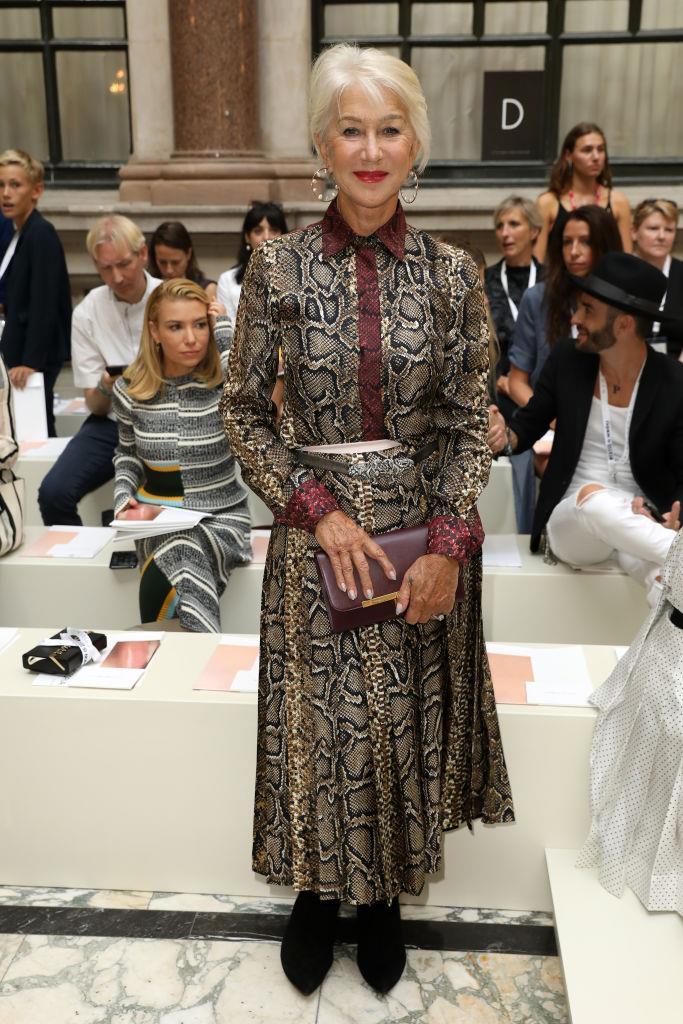 Dame Helen Mirren at Victoria Beckham.