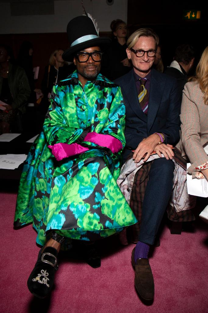 Billy Porter and Hamish Bowles at Richard Quinn.