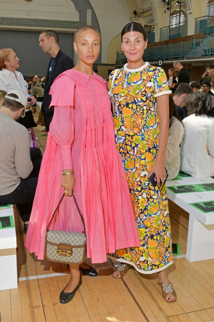 Adwoa Aboah and Giovanna Battaglia at Molly Goddard.
