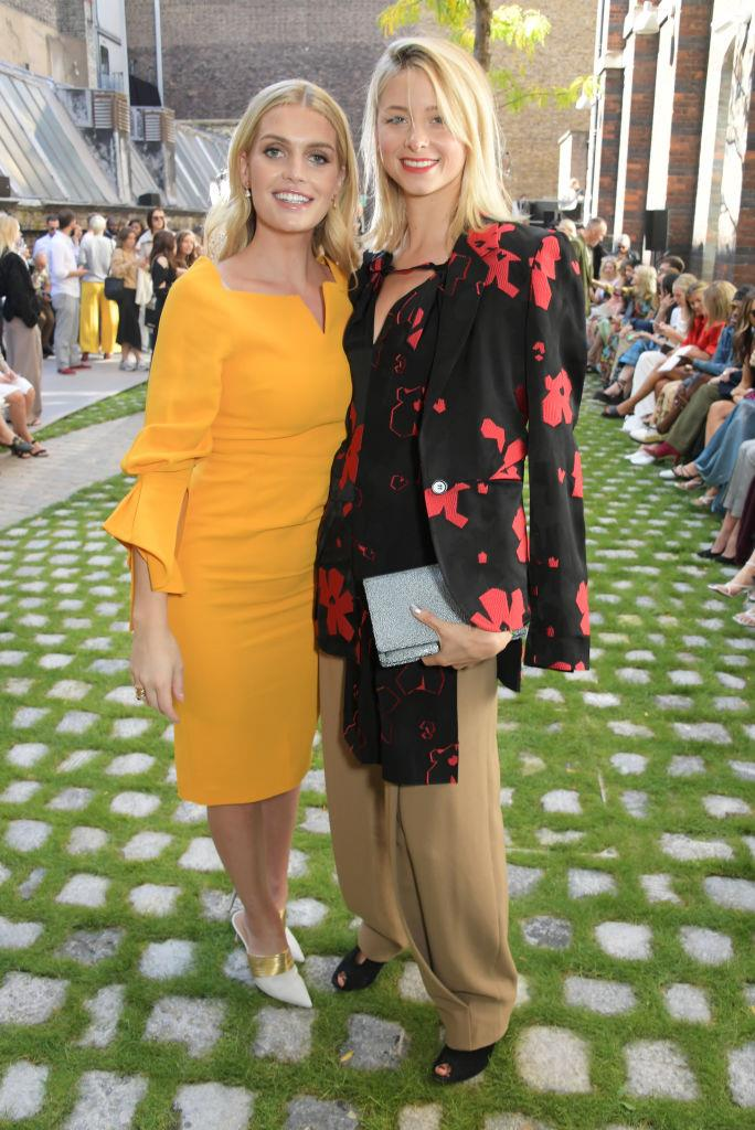 Lady Kitty Spencer and Isabel Getty at Roland Mouret.