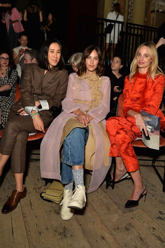Eva Chen, Alexa Chung and Lauren Santo Domingo at Simone Rocha.
