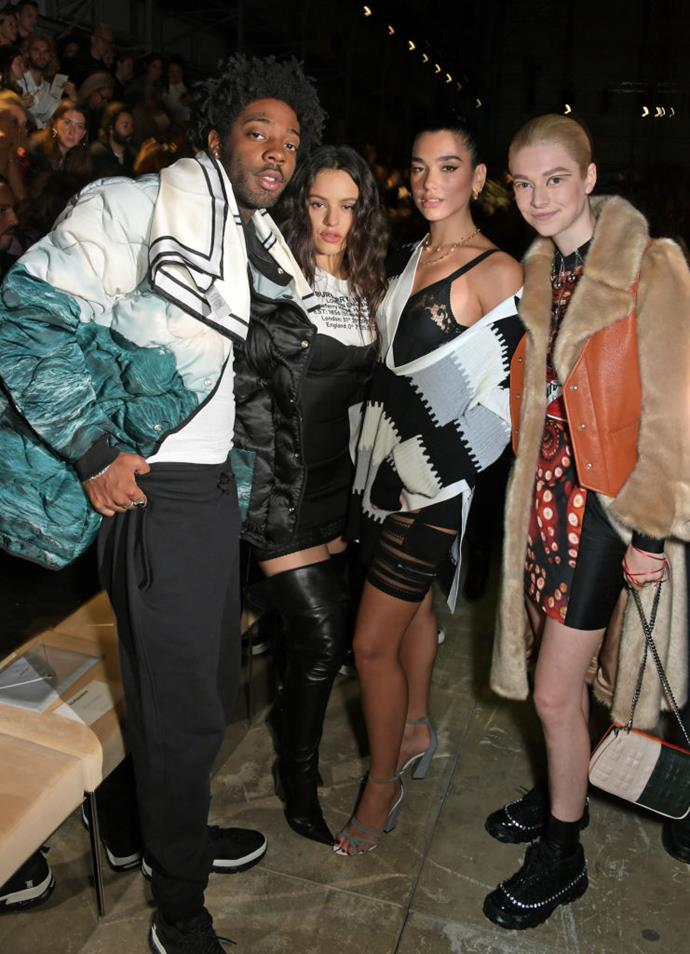 Brent Faiyaz, Rosalía, Dua Lipa and Hunter Schafer at Burberry.