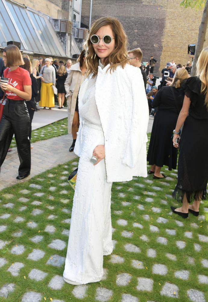 Trinny Woodall at Roland Mouret.