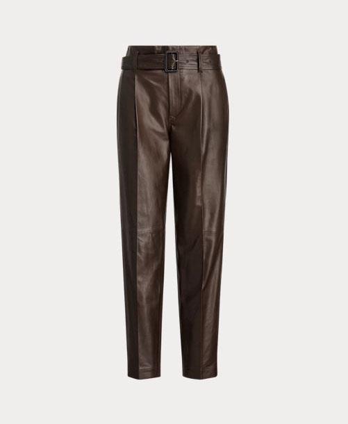 "Ralph Lauren x Friends Lambskin Paperbag Trouser, approximately $1557 from [Ralph Lauren](https://www.ralphlauren.co.uk/en/lambskin-paperbag-trouser-495281.html?dwvar495281_colorname=Mohican%20Brown&cgid=women-friends&webcat=RALPH%20LAUREN%20X%20FRIENDS#sz=30&start=1&cgid=women-friends|target=""_blank""|rel=""nofollow"")"