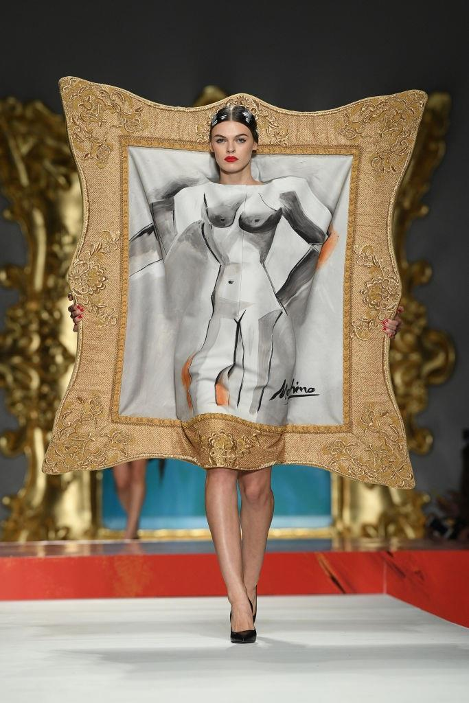 "'Low-key' and '**Moschino**' are not words that pair together in a sentence. For spring/summer '20, creative director Jeremy Scott showed whimsical garments that would've been perfectly at home on the 2019 'Camp'-themed [Met Gala red carpet](https://www.harpersbazaar.com.au/fashion/met-gala-red-carpet-2019-18596|target=""_blank"")."