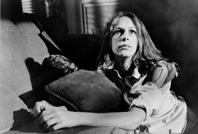 Jamie Lee Curtis in *Halloween* (1978)