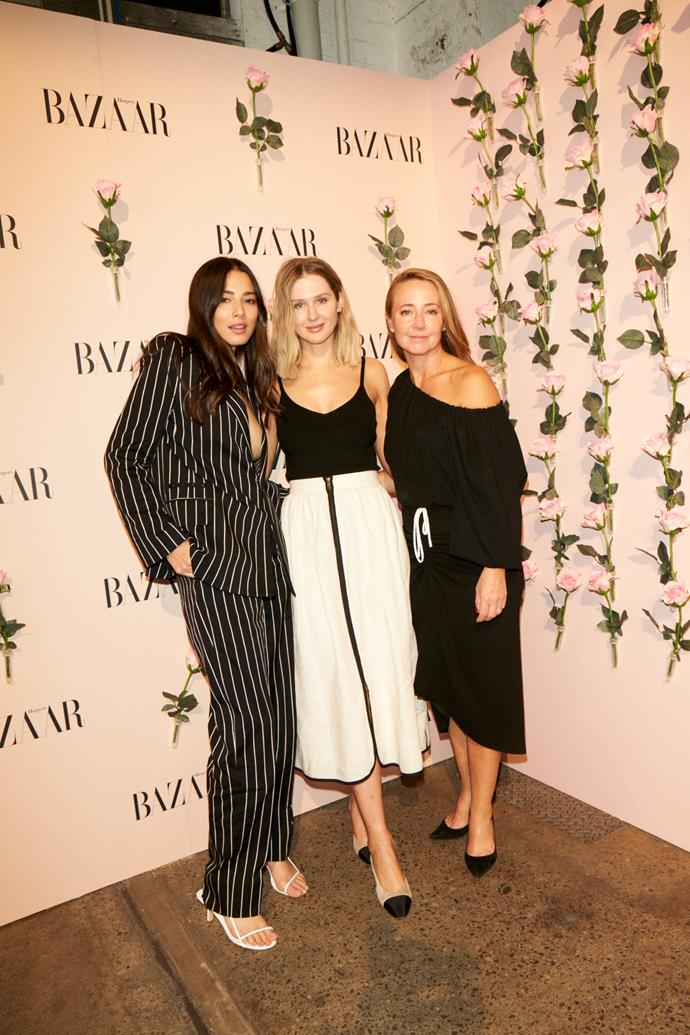 Jessica Gomes, Melanie Grant and editor-in-chief Eugenie Kelly