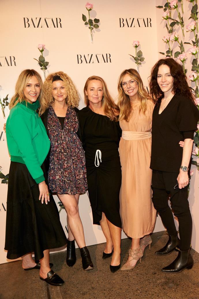From left: Lucinda Pitt, makeup artist Linda Jefferyes, Eugenie Kelly, Liz Kelsh and Rae Morris