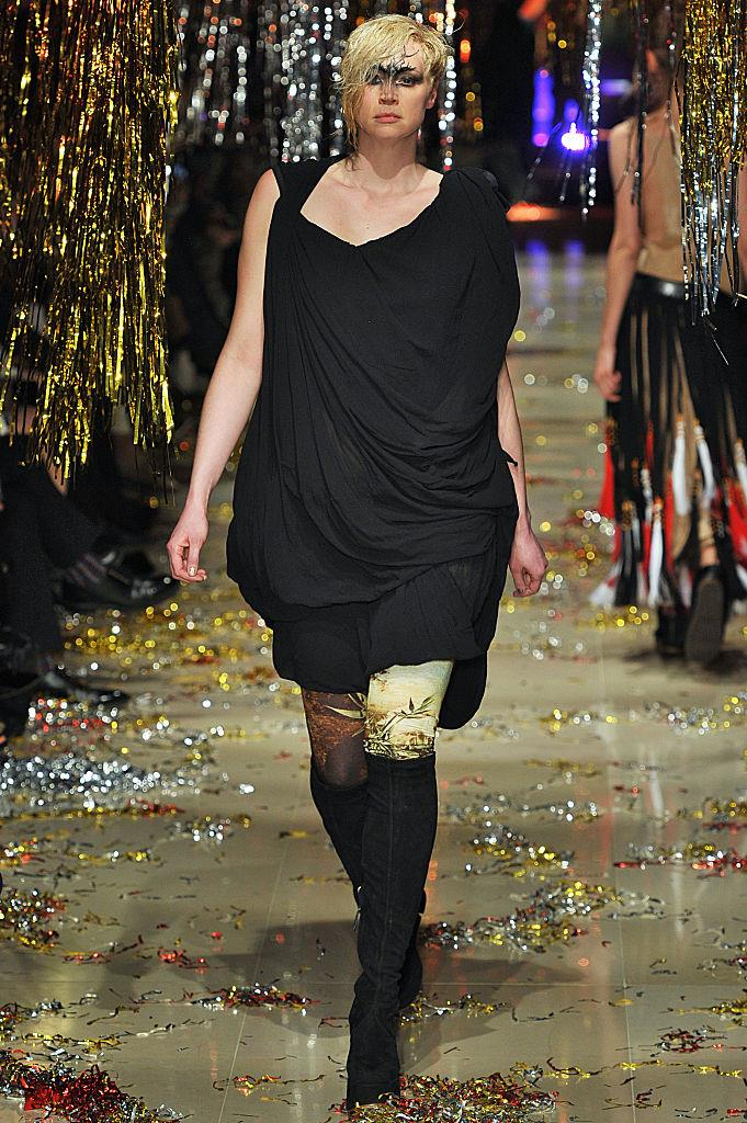 """**Gwendoline Christie for Vivienne Westwood autumn/winter 2015/2016 at Paris Fashion Week**<br><br>  *Game Of Thrones* star Gwendoline Christie made fans do a double take when she appeared on Vivienne Westwood's autumn/winter 2015/2016 runway. In July 2015, she appeared as the face of the British designer's much-discussed [gender-neutral campaign](https://graziadaily.co.uk/fashion/news/vivienne-westwood-campaign-gwendoline-christie/