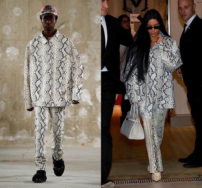 Kim Kardashian West wearing 1017 ALYX 9SM menswear spring/summer 2019.