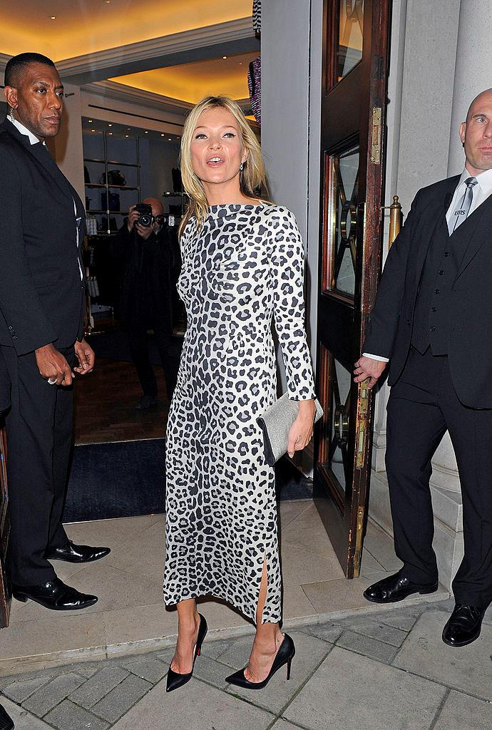 In a fitted leopard print gown at an event in November 2012.