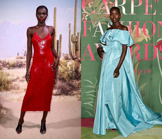 ***Adut Akech***<br><br> Certainly not afraid to embrace colour, supermodel-in-the-making Adut Akech loves a bold moment.