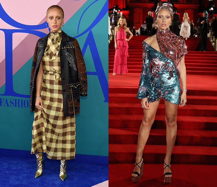 ***Adwoa Aboah***<br><br> Clashing prints, sequins, sheer tulle and bold shapes, Adwoa isn't one to blend in.