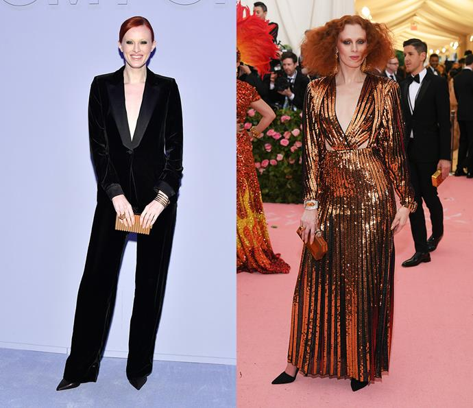 ***Karen Elson***<br><br> On stage or at events, Karen Elson is known for bringing her own brand of cool to the table.