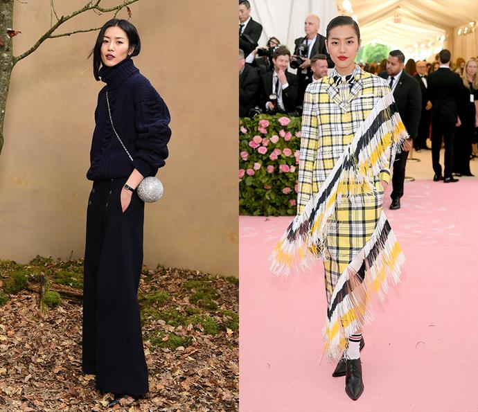 ***Liu Wen***<br><br> Statuesque Liu Wen does it all: minimalist separates, OTT red carpet and effortless street style.