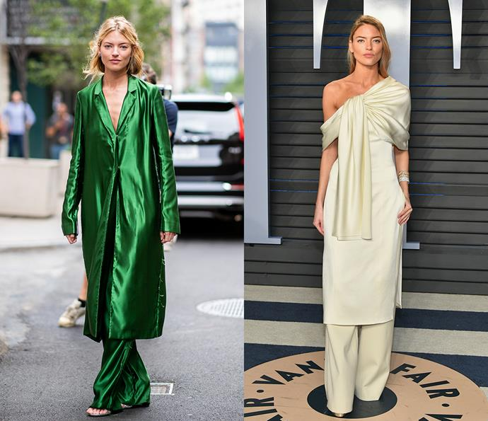 ***Martha Hunt***<br><Br> American model Martha Hunt's style isn't your traditional Victoria's Secret bombshell look. Hunt mixes soft shapes and relaxed styling, as well as an infusion of punchy colours.