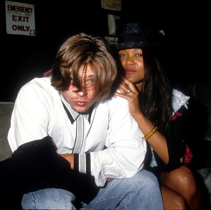 """**Robin Givens: 1986 - 1987** <br><br> American actress Robin Givens linked up with Pitt while her divorce from boxer Mike Tyson was being finalised. Tyson has even spoken about discovering Pitt at his former wife's house and realising their marriage was officially over (""""Brad Pitt is the international symbol for that,"""" he joked to Conan O'Brien in 2012)."""
