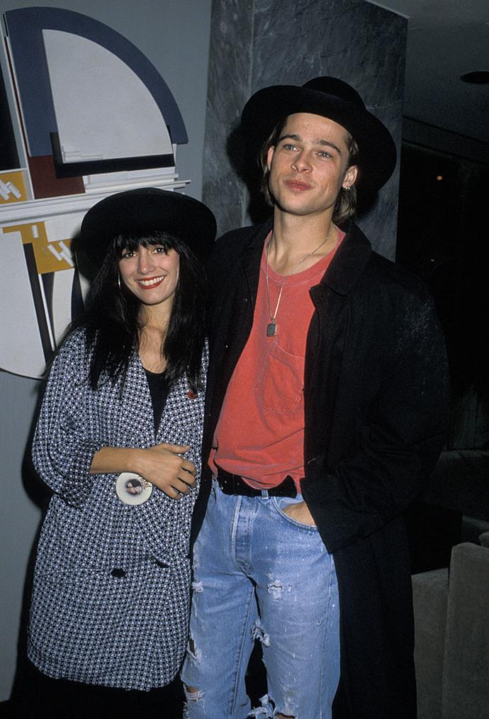 **Jill Schoelen: 1989** <br><br> Pitt and his *Cutting Class* co-star Jill Schoelen were engaged for three months in 1989, before she reportedly broke it off because she'd fallen in love with the director of a film she'd been working on.