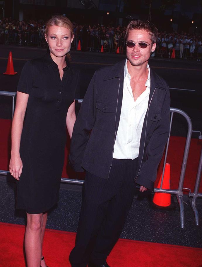 """**Gwyneth Paltrow: 1994 - 1997** <br><br> One of Pitt's more high-profile relationships was with fellow mega-star Gwyneth Paltrow. Years later Paltrow made headlines when she revealed Pitt stood up for her after an uncomfortable encounter with disgraced film producer Harvey Weinstein. You can read more about that [here](https://www.harpersbazaar.com.au/celebrity/brad-pitt-harvey-weinstein-19312