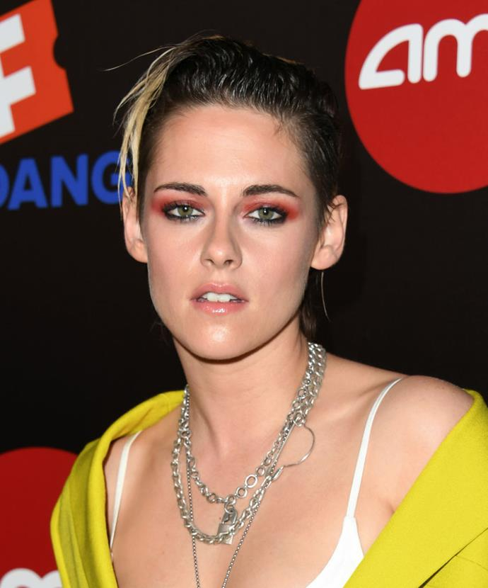 **Kristen Stewart**<br><br>  Longtime Chanel muse Kristen Stewart has been changing the beauty game for quite some time. Known for her smouldering, signature eye makeup looks, the *Charlies Angels* actress rarely goes for a standard smokey, instead opting for unexpected colour and smudged liners with rocker hair.