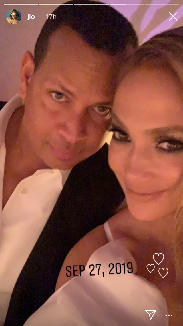 "The couple also took a moment to pose for their own selfie, which Lopez shared to her Instagram stories with the caption ""Sep 2, 2019"" and a trio of heart emojis.<br><br>  *Image via [@jlo](https://www.instagram.com/jlo/