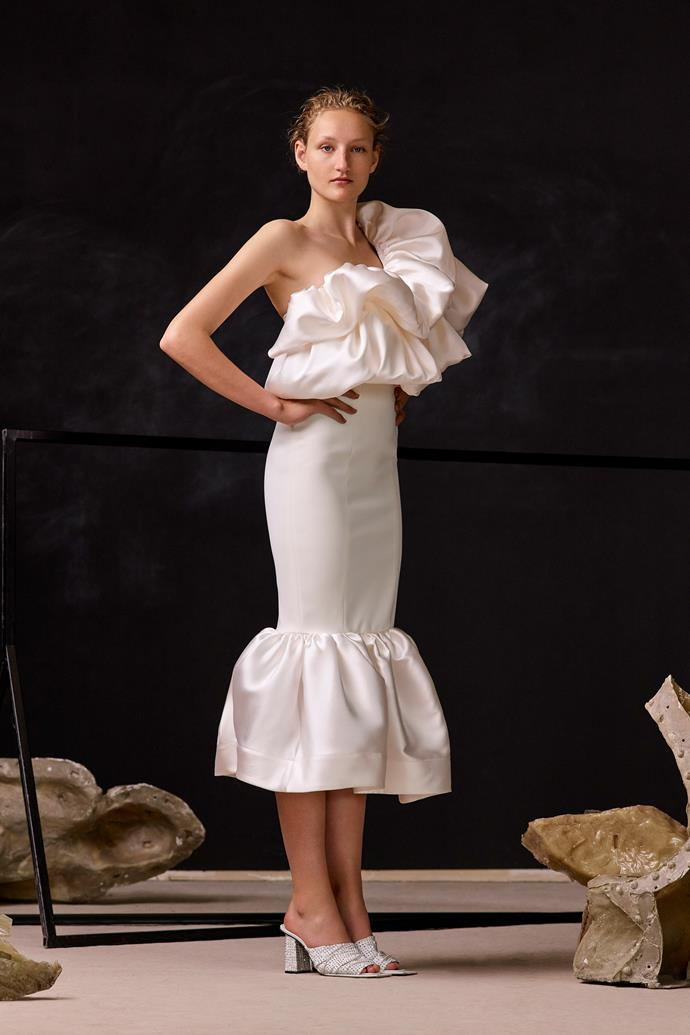 "The Solace London resort 2020 dress Lopez wore to her engagement party, which is yet to be released.<br><br>  *Image via [Solace London](https://www.solacelondon.com/|target=""_blank""