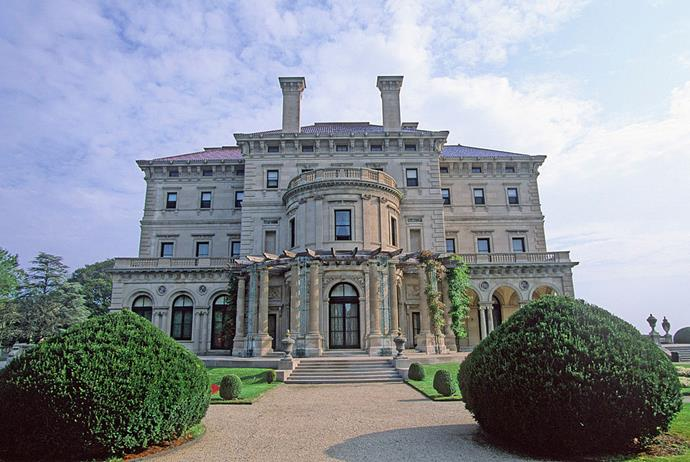 A mansion owned by the Vanderbilts, one of the real-life Gilded Age families, in Newport, Rhode Island.