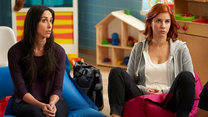 ***Workin' Moms*** <br><br> For fans of: *Good Girls*, *Schitt's Creek* and *Dead To Me* <br><br> This brutally honest, unabashedly hilarious series follows a group of mothers navigating their return to the professional realm after welcoming their bundles of joy (and anxiety). Lauded for its apparently accurate portrayal of everything from breastfeeding in the office to post-natal depression, the Canadian series also explores the fragile balance between identity, ambition and motherhood.