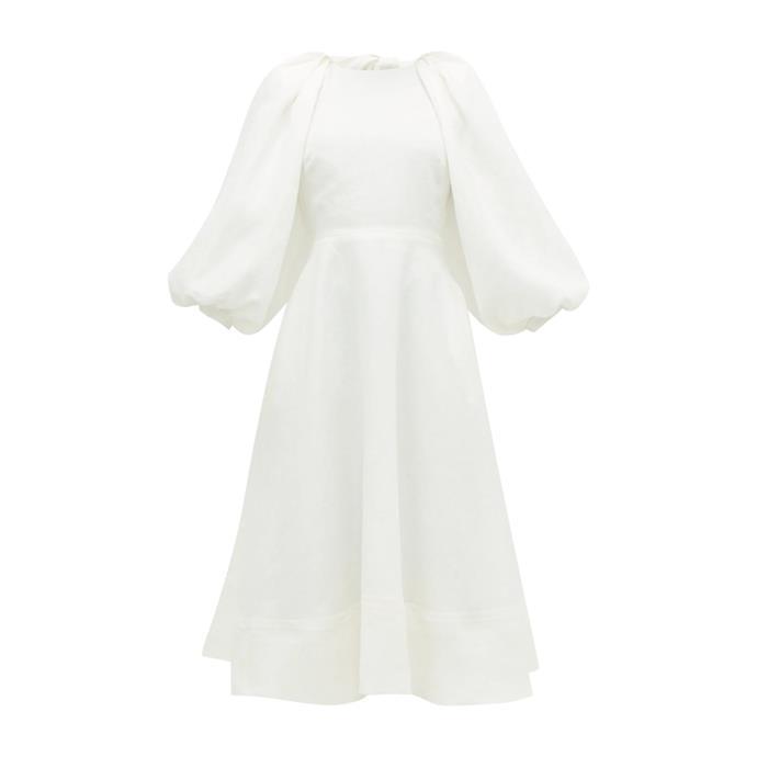 "***The midi dress***<br><br> Dress by Ssone, $1,735 at [MATCHESFASHION.COM](https://www.matchesfashion.com/products/Ss%C5%8Dne-Cut-out-balloon-sleeve-hemp-midi-dress-1314624|target=""_blank""|rel=""nofollow"")."