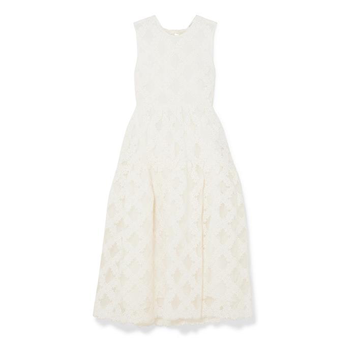 "***The midi dress***<br><br> Dress by Cecilie Bahnsen, $5,750 at [NET-A-PORTER](https://www.net-a-porter.com/au/en/product/1169860/Cecilie_Bahnsen/aretha-open-back-floral-embroider...|target=""_blank""|rel=""nofollow"")."