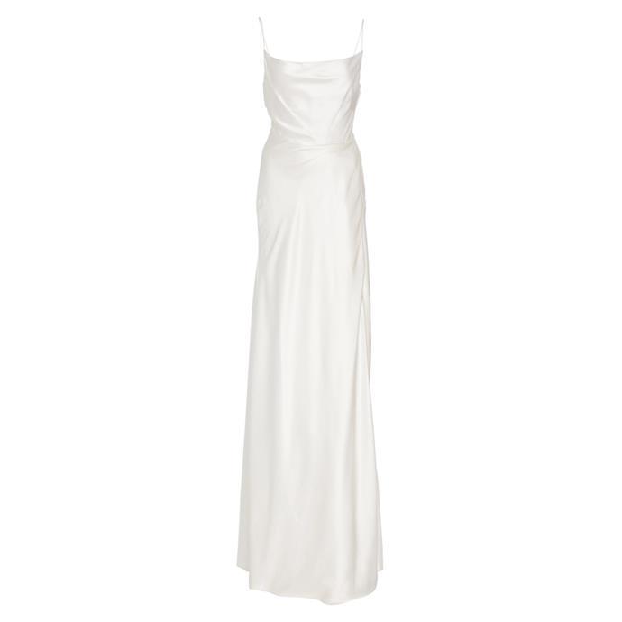"***The slip dress***<br><br> Gown by Markarian, $2,785 at [Moda Operandi](https://www.modaoperandi.com/markarian-fw19/exclusive-rock-your-baby-silk-slip-gown|target=""_blank""|rel=""nofollow"")."
