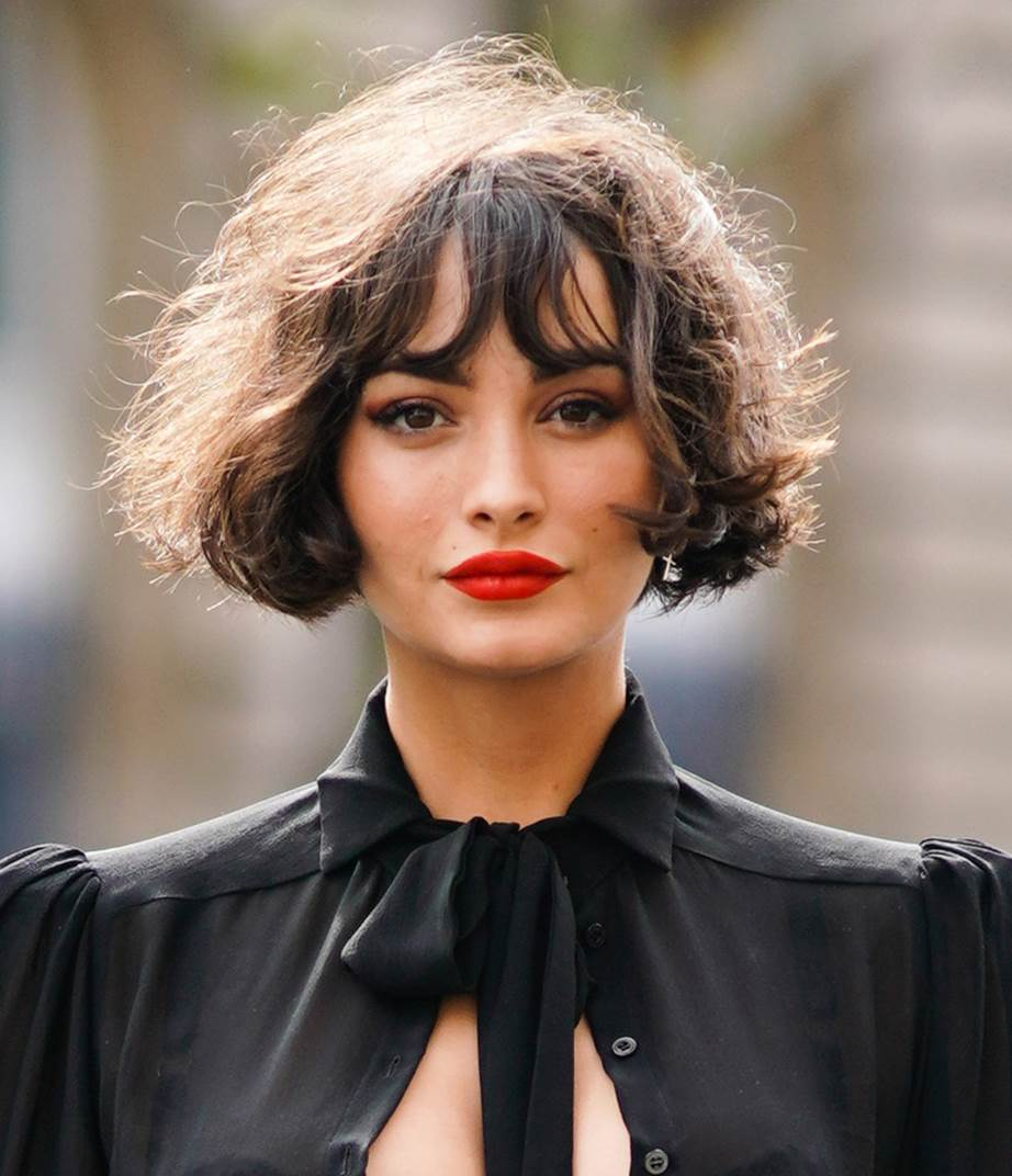 Model rambut pendek wanita ala gadis Prancis