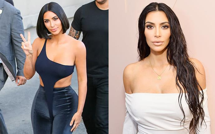 "**Kim Kardashian West** <br><br> The reality star went for a short, sleek bob in 2018 and immediately regretted it. ""Wait I miss my long hair 😢"" she tweeted shortly after the chop."