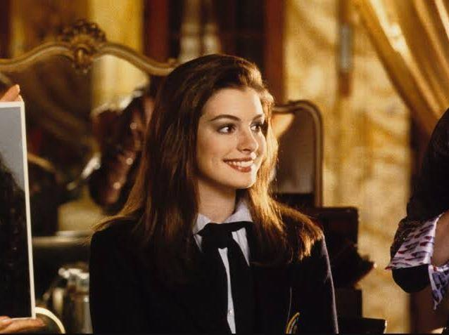 **Anne Hathway's princess hair in** ***The Princess Diaries***<br><br>  Oh, what a little styling can do! The magical moment when Mia's unruly mane became sleek and tiara-worthy is what princess makeover dreams are made of.
