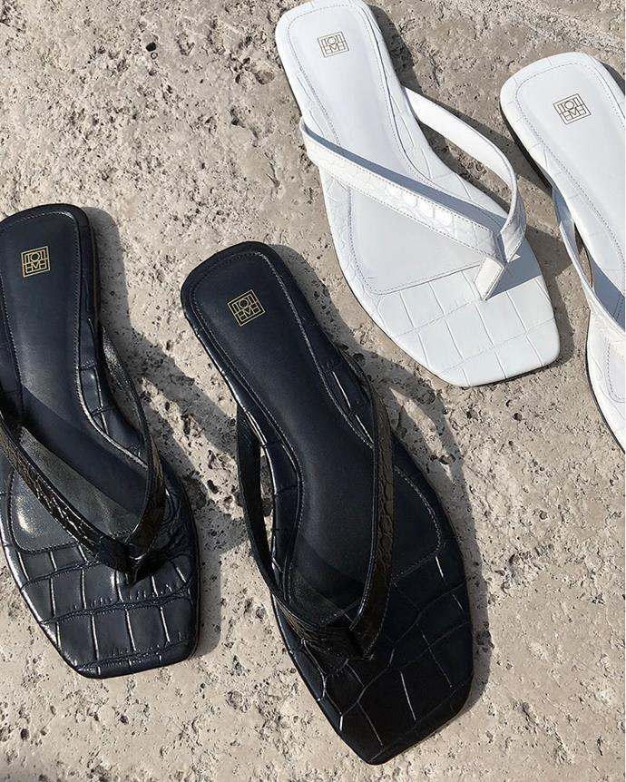 "**The Leather Flip-Flop**<br><br>  ""An elevated Australian classic, a leather 'thong' or flip-flop is the key sandal for summer. You can wear it with basically anything, from tailored trousers to a summer silk dress,"" said Tran."