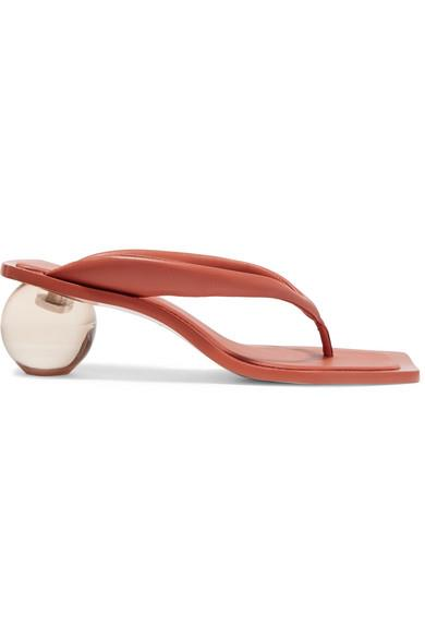 "Jasmin leather sandals by Cult Gaia, $553.43 from [NET-A-PORTER](https://www.net-a-porter.com/au/en/product/1155170/Cult_Gaia/jasmin-leather-sandals|target=""_blank""