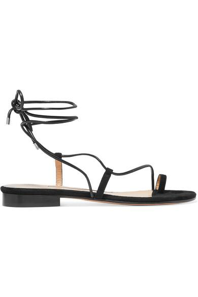 "'Susan' suede and leather sandals by Emme Parsons, $568.83 from [NET-A-PORTER](https://www.net-a-porter.com/au/en/product/1131249/emme_parsons/susan-suede-and-leather-sandals|target=""_blank""