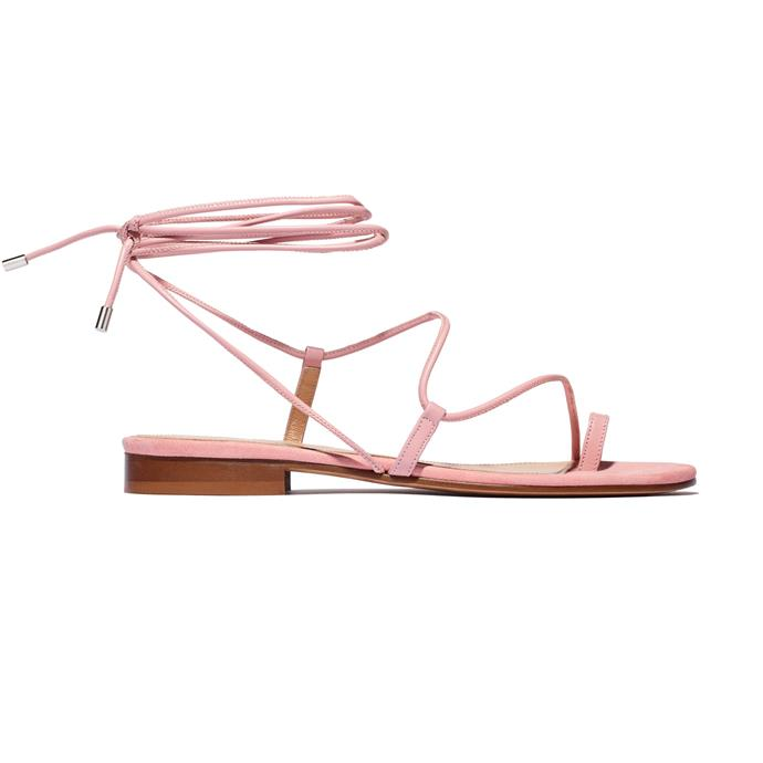 "'Susan' pink suede sandals by Emme Parsons, $395 from [Emme Parsons](https://www.emmeparsons.com/collections/all/products/susan-in-pink-suede|target=""_blank""