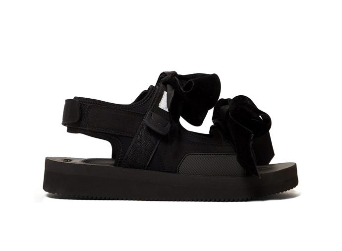 "April velvet-bow suede sandals by Cecilie Bahnsen X Suicoke, approx. $606 AUD from [MATCHESFASHION.COM](https://www.matchesfashion.com/products/1295754|target=""_blank""