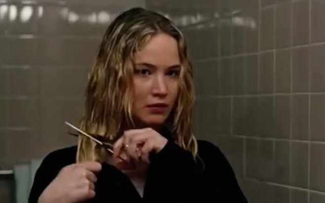 **Jennifer Lawrence's hair-cutting scene in** ***Joy***<br><br>  Viewers were transfixed when Jennifer Lawrence jaggedly scissored off the ends of her hair as a sign of her reclaiming her power as a house-wife-turned-mogul in Joy.